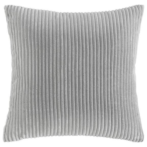 Kissen Layla ca.45x45cm in Hellgrau - Hellgrau, MODERN, Textil (45/45cm) - Bessagi Home