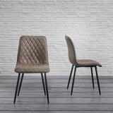 Stuhl Vittoria - Braun/Grau, MODERN, Textil/Metall (46,5/85/39,5cm) - Modern Living