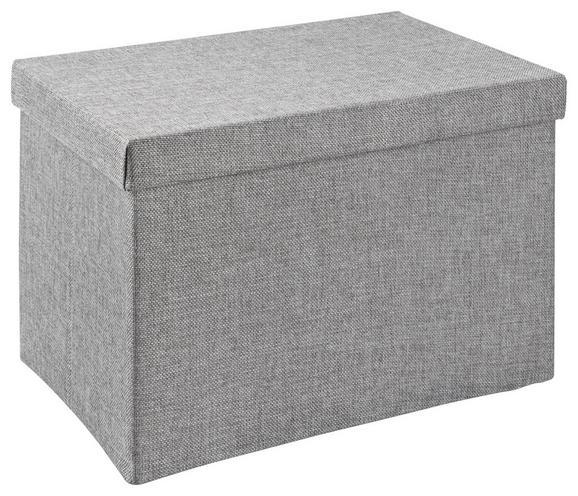 Aufbewahrungsbox Cindy Grau - Grau, MODERN, Textil (38/26/24cm) - Mömax modern living