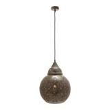Hängeleuchte max. 40 Watt 'Sahar' - Braun, MODERN, Metall (30/144cm) - Bessagi Home