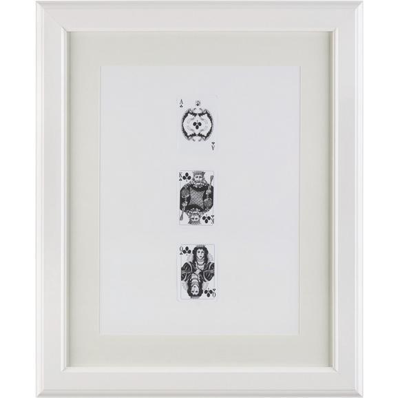Képkeret Provence - Fehér, romantikus/Landhaus, Üveg/Fa (40/50/1,5cm) - Mömax modern living