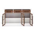 SIDEBOARD aus Kiefer 'Camden' - Weiß/Kieferfarben, MODERN, Holz/Metall (150/96/35.5cm) - Bessagi Home