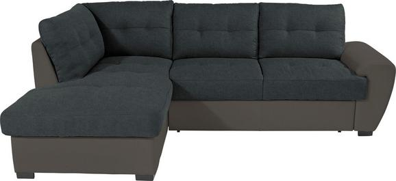 Kutna Garnitura L-oblika Burner, 174 X 244 Cm - siva/crna, Modern, tekstil (174/244cm) - Modern Living