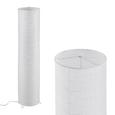 Stehleuchte Francesco, max. 60 Watt - Chromfarben/Weiß, KONVENTIONELL, Papier/Metall (27,5/120cm) - Based