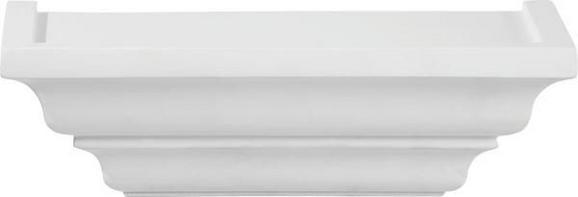 Falipolc Fontaineroux 25cm  -sb- - Fehér, romantikus/Landhaus, Fa (25/7,5/12,5cm)