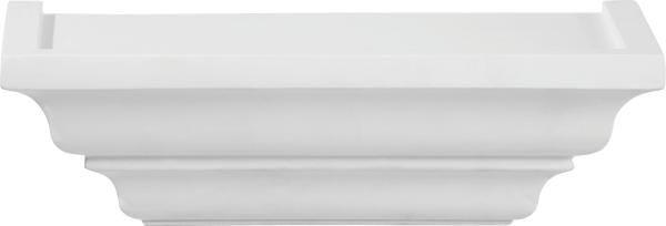 Wandboard in Weiß - Weiß, ROMANTIK / LANDHAUS, Holz (25/7,5/12,5cm) - MÖMAX modern living