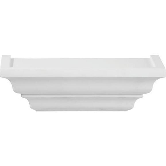 Wandboard Weiß - Weiß, ROMANTIK / LANDHAUS, Holz (25/7,5/12,5cm) - Mömax modern living