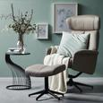 Relaxsessel in Braun mit Hocker - Schwarz/Braun, MODERN, Kunststoff/Textil (76/97-109/76-107cm) - Modern Living