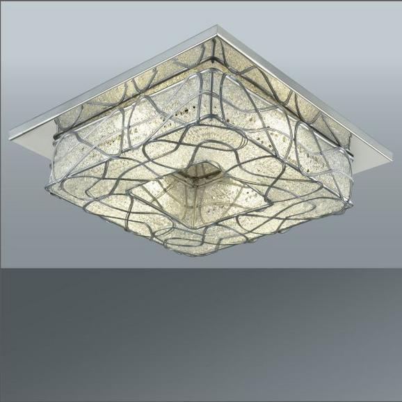 Stropna Led-svetilka Marlo - Moderno, kovina/umetna masa (25/25/9cm) - Mömax modern living