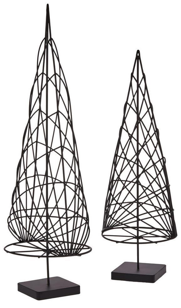 Dekobaum Casper Schwarz - Schwarz, Metall (11/31,50/11cm) - Mömax modern living