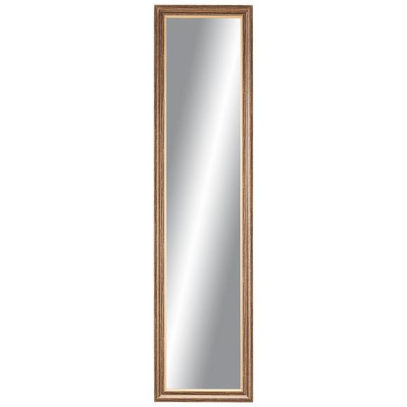 Stensko Ogledalo Ella - zlata/rjava, Moderno, steklo/leseni material (35/140cm) - Mömax modern living