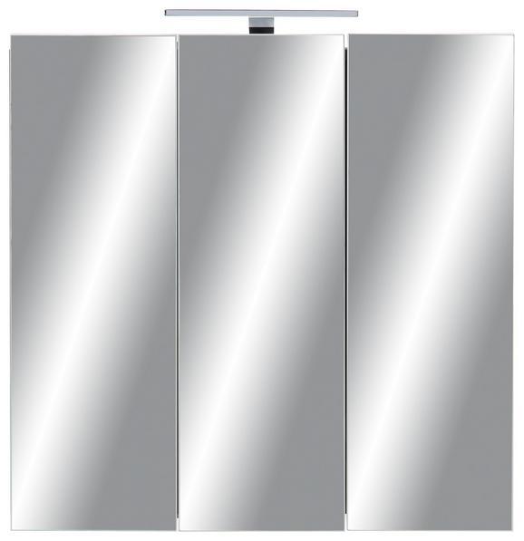 Spiegelschrank Dunkelgrau - Dunkelgrau, MODERN, Glas/Holzwerkstoff (80/79/20cm)