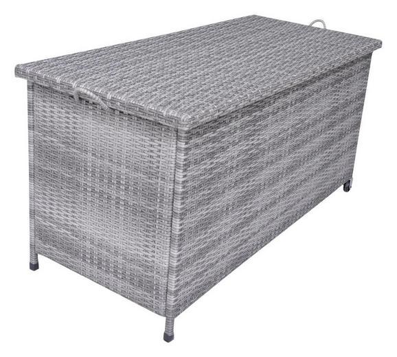 Kissenbox in Grau - Grau, MODERN, Kunststoff/Metall (122/56/60,5cm) - MÖMAX modern living