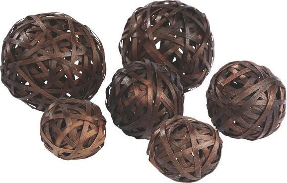 Dekokugel Melinda verschiedene Farben - Petrol/Creme, Holz (10.8.6cm) - Mömax modern living