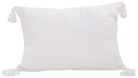 Zierkissen Frieda Weiß 40x60 cm - Weiß, MODERN, Textil (40/60cm) - Mömax modern living