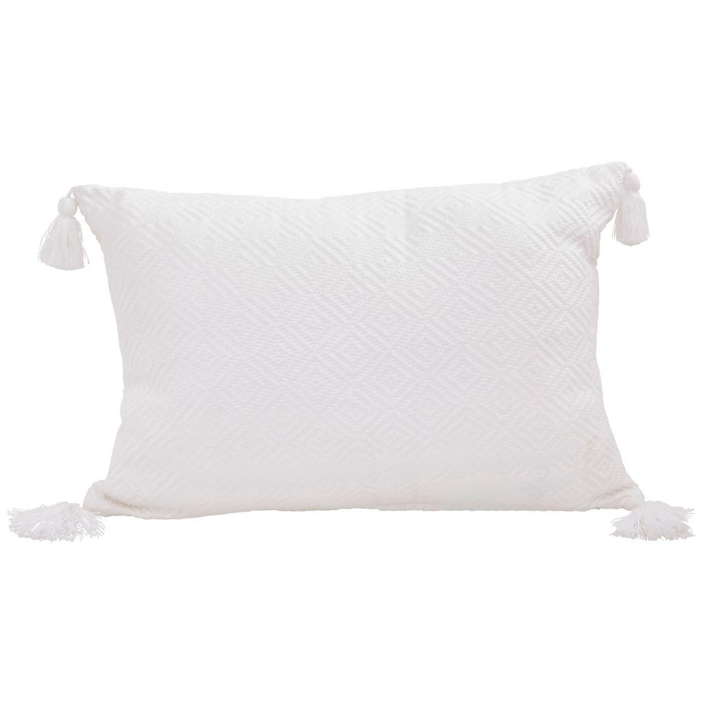 Zierkissen Frieda Weiß ca. 40x60 cm