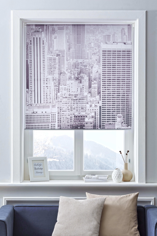 Roló Fotoprint - fehér/szürke, modern, textil (80/170cm) - MÖMAX modern living