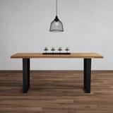 Tisch Kayla Aus Eiche Echtholz ca. 180x90 cm - Eichefarben/Schwarz, MODERN, Holz/Metall (180/76/90cm) - Modern Living