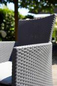 Tischgruppe Quattro inkl. Auflagen - Graphitfarben, MODERN, Kunststoff (160,5/74,5/94,5cm) - ALLIBERT