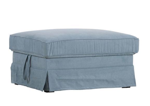 Tabure Fly - svetlo modra/temno rjava, Romantika, tekstil (72/48/94cm) - Zandiara