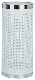 Schirmständer Weiß/edelstahlfarben - Edelstahlfarben/Weiß, MODERN, Kunststoff/Metall (23/50cm) - Mömax modern living