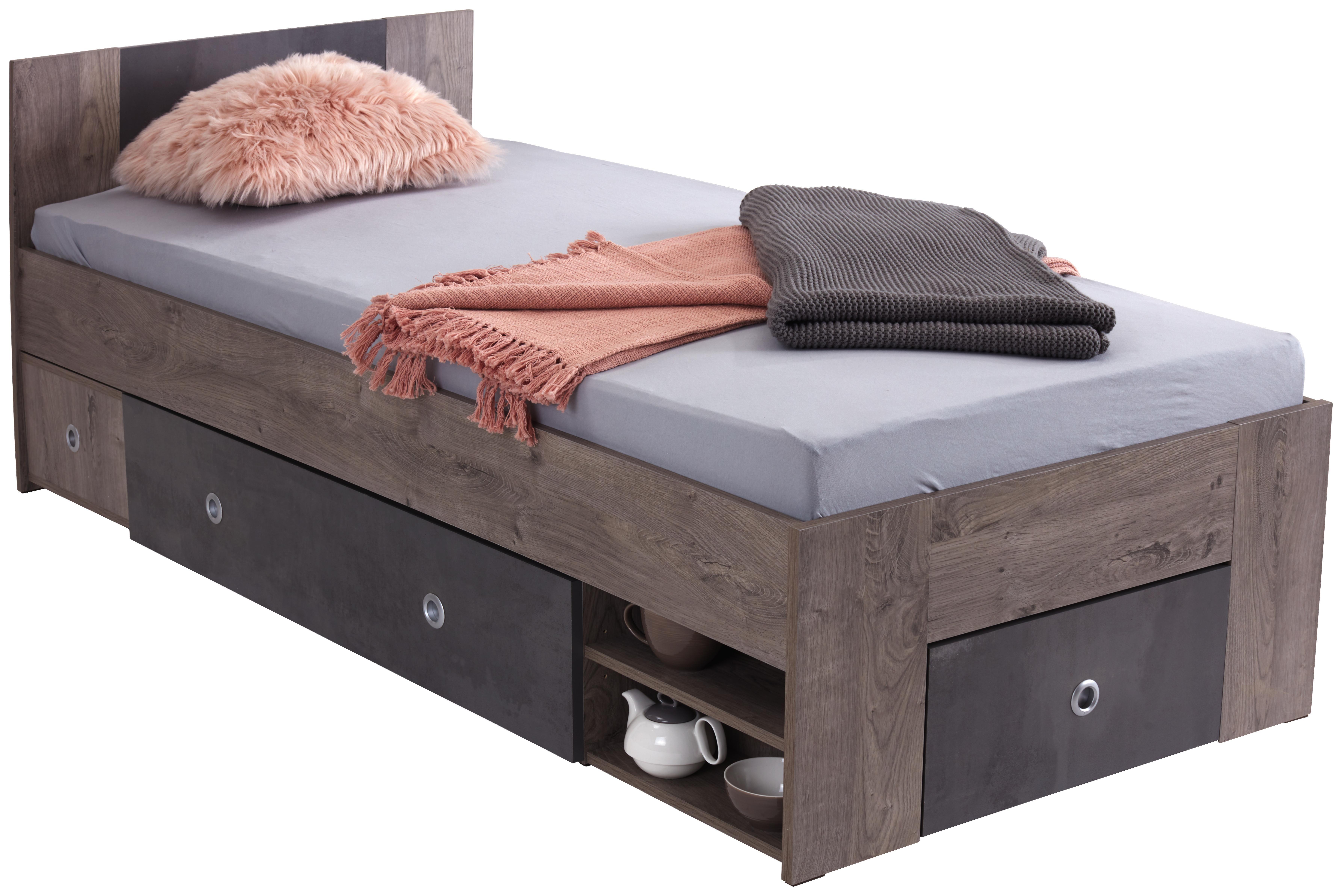 Postelja Azurro 90 - hrast, Moderno, leseni material (204/75/95cm) - Mömax modern living