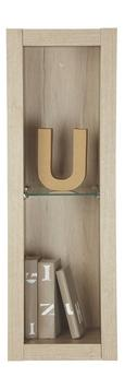 Stenski Regal Match San Remo - hrast, Moderno, steklo/leseni material (90/30/34cm) - Based