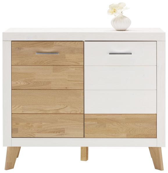 Kommode Weiß/Eichefarben - Eichefarben/Weiß, MODERN, Holz (113/93/42cm) - PREMIUM LIVING
