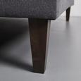 Wohnlandschaft Laura inkl. Kissen - Anthrazit/Schwarz, MODERN, Holz/Textil (297/151cm) - Modern Living