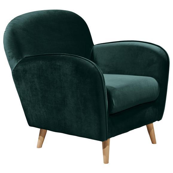 Sessel in Grün 'Milos ES' - Kieferfarben/Grün, Trend, Holz/Holzwerkstoff (82/88/92cm) - Livetastic