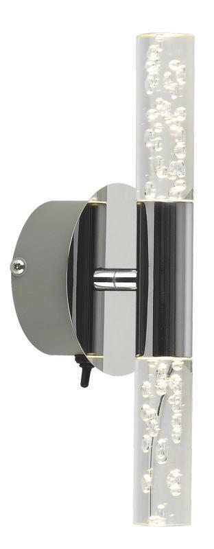 Wandleuchte Stereo, max. 8 Watt - MODERN, Kunststoff/Metall (22/9cm)