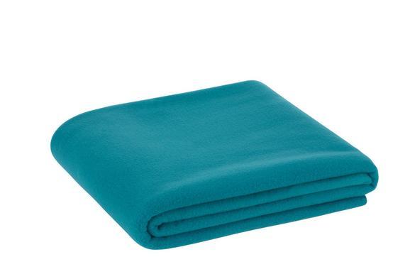 Fleecedecke Trendix Smaragdgrün 130x180 cm - Petrol, Textil (130/180cm) - Mömax modern living