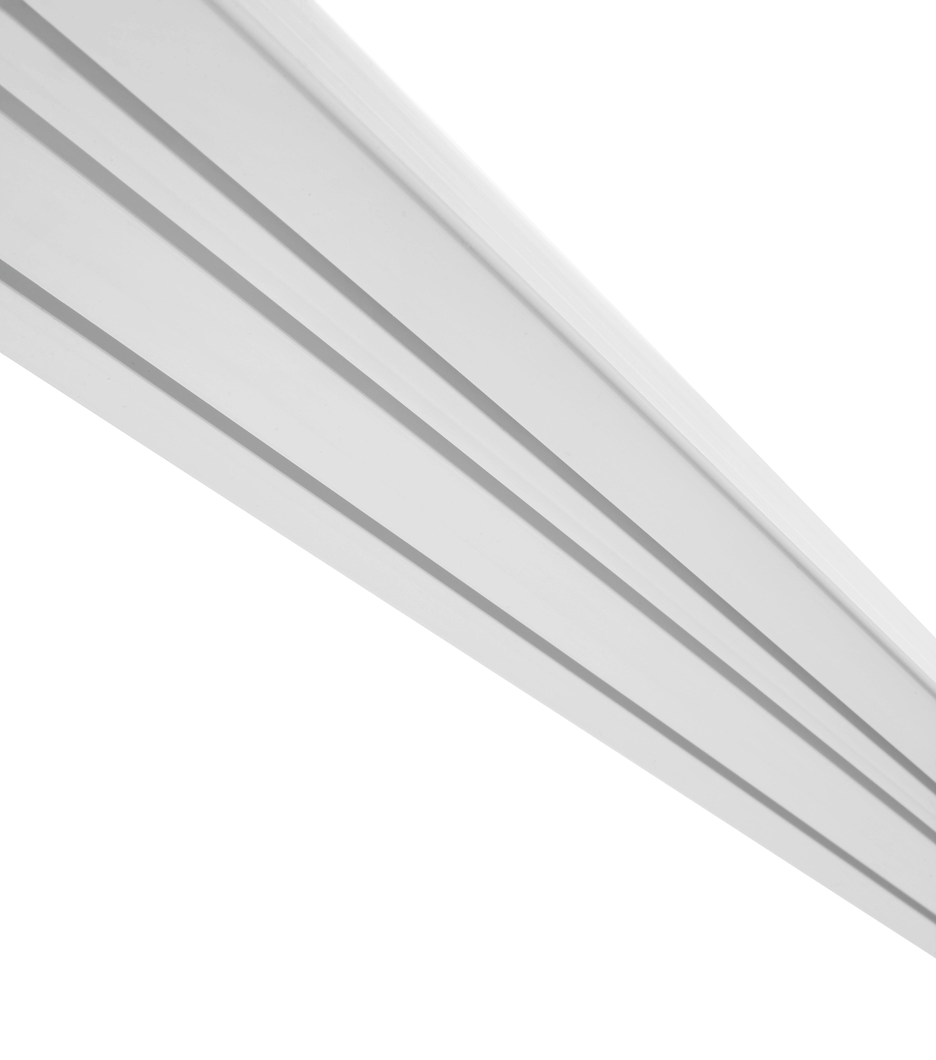 Függönysín 3 Sínes - fehér, műanyag (120/8.8/1.7cm) - MÖMAX modern living