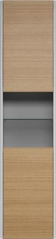 Visoka Omara Savona - hrast/bela, Moderno, steklo/leseni material (40/167/29,5cm) - Mömax modern living