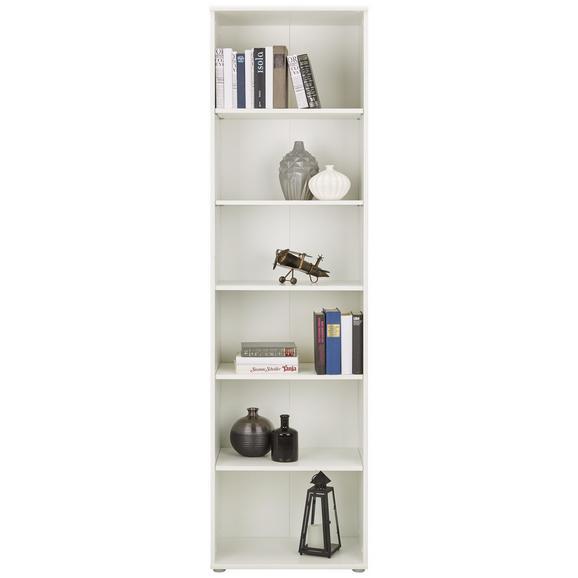 Regal Weiß - Weiß, MODERN, Holzwerkstoff/Kunststoff (54/198/34cm)