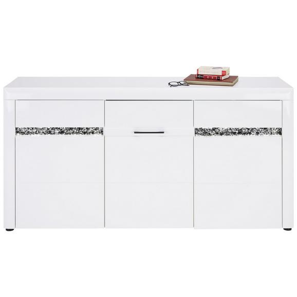 Sideboard in Weiß Hochglanz - Schwarz/Weiß, LIFESTYLE, Holzwerkstoff/Kunststoff (170.0/85.0/47.0cm) - Modern Living