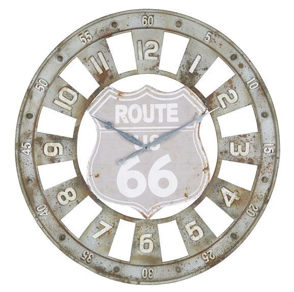 Wanduhr Route 66, ca. 80x4cm - Braun/Grau, LIFESTYLE, Metall (80/4cm) - Mömax modern living