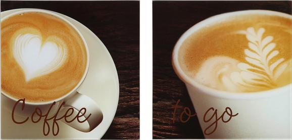 Glasbild I Like Coffee, 20x40x1,7cm - Multicolor, MODERN, Glas (20/40/1,7cm) - Mömax modern living