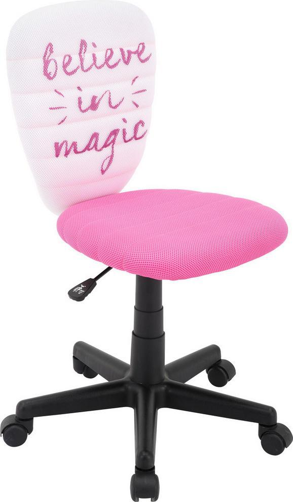 Drehstuhl Weiß/pink - Pink/Schwarz, MODERN, Kunststoff/Textil (40/75-85/48cm) - Mömax modern living