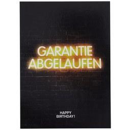 Postkarte Statements Garantie abgelaufen - Multicolor, Papier (10,5/14,8cm)