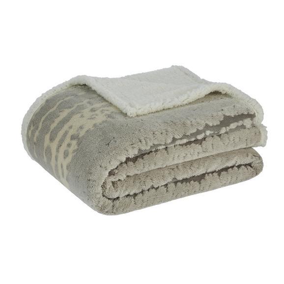 Decke Jaquard in Grau ca.150x200cm - Grau, Textil (150/200cm) - Premium Living