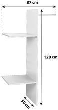 Notranja Razdelitev Florenz - bela, Konvencionalno, leseni material (86,8/120/49,5cm) - Mömax modern living