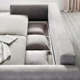 Canapea Extensibila Aurelia - gri, Lifestyle, compozit lemnos/textil (247/95/125cm) - Zandiara