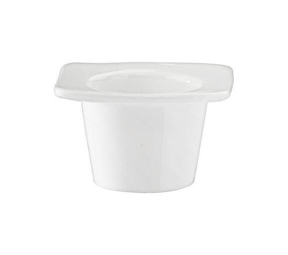 Eierbecher Pura in Weiß - Weiß, LIFESTYLE, Keramik (7/7/4cm) - Premium Living