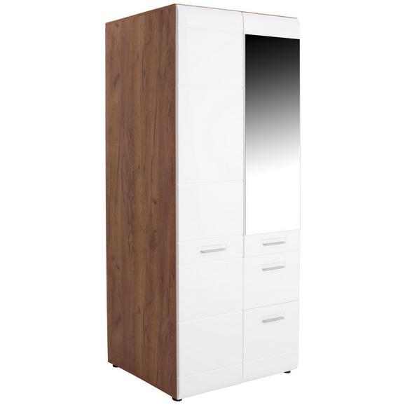 Omara Za Oblačila Avensis New - aluminij/bela, Konvencionalno, umetna masa/leseni material (90/205,7/60cm) - Mömax modern living