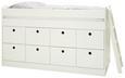 Hochbett Weiß 90x200cm - Weiß, ROMANTIK / LANDHAUS, Holz/Holzwerkstoff (203,6/121/95cm) - Premium Living