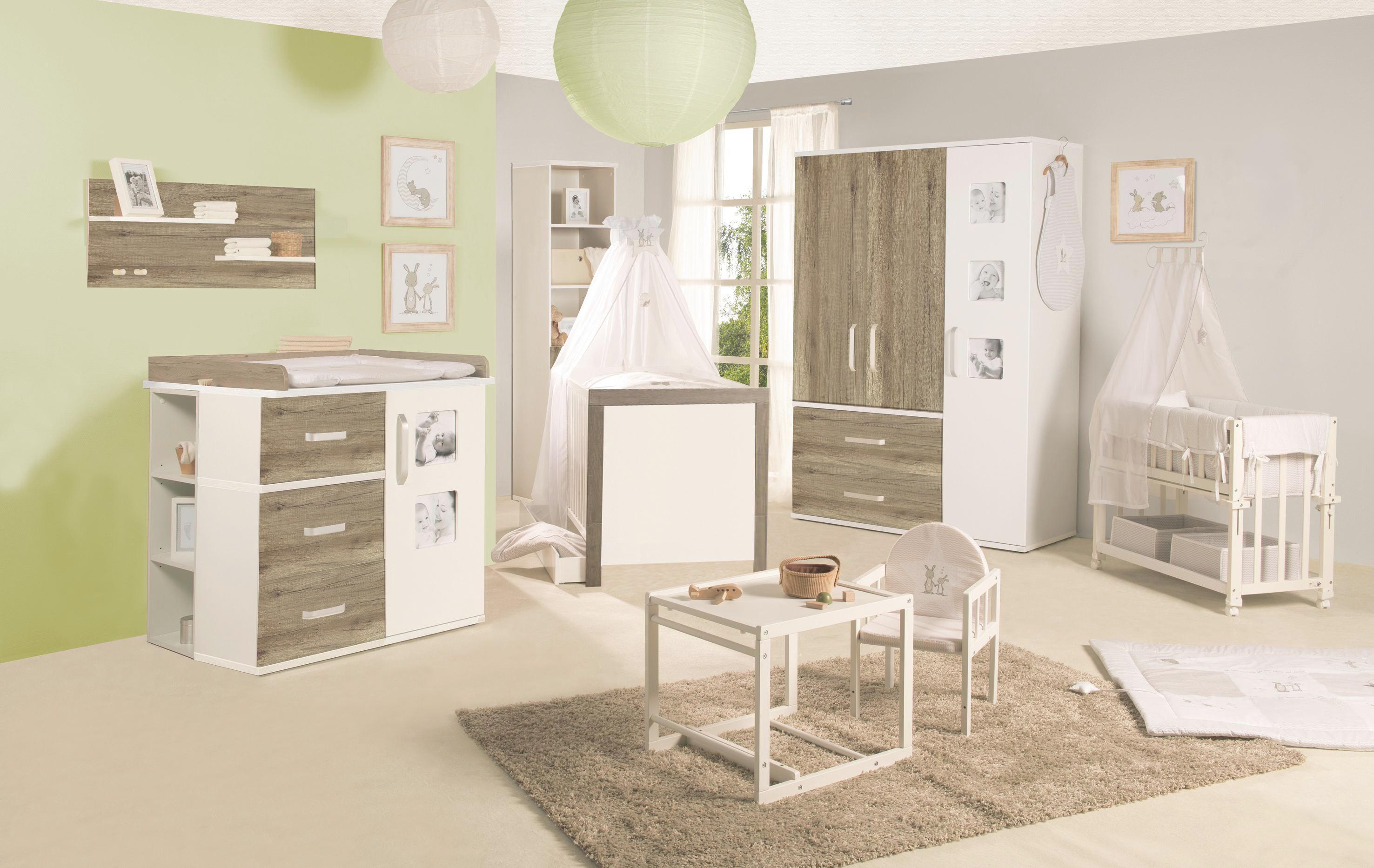 Gitterbett in Braun/Weiß, ca. 70x140cm - Eichefarben/Weiß, KONVENTIONELL, Holzwerkstoff (70/140cm) - PREMIUM LIVING