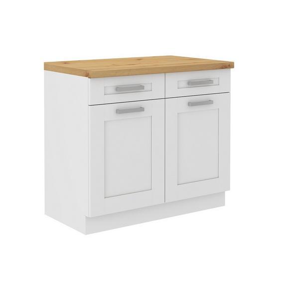 Dulap De Bucătărie Luisa - alb, Konventionell, compozit lemnos (100/86/60cm)