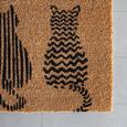 Fußmatte Welcome Cats Braun - Braun, Basics, Textil (40/60cm) - Mömax modern living