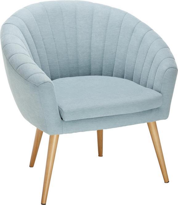 Fotelj Bea -exklusiv- - naravna/svetlo modra, Moderno, tekstil (75/77/45/66cm)